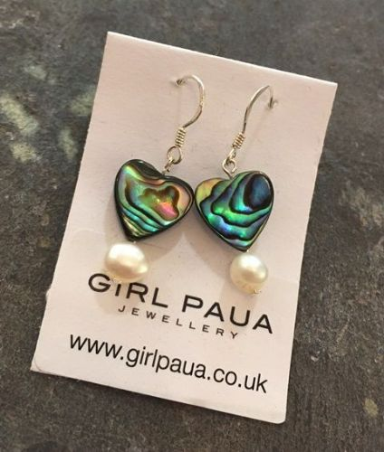 Paua & Freshwater Pearl Earrings PE02-PH